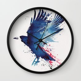 Bloody Crow Wall Clock