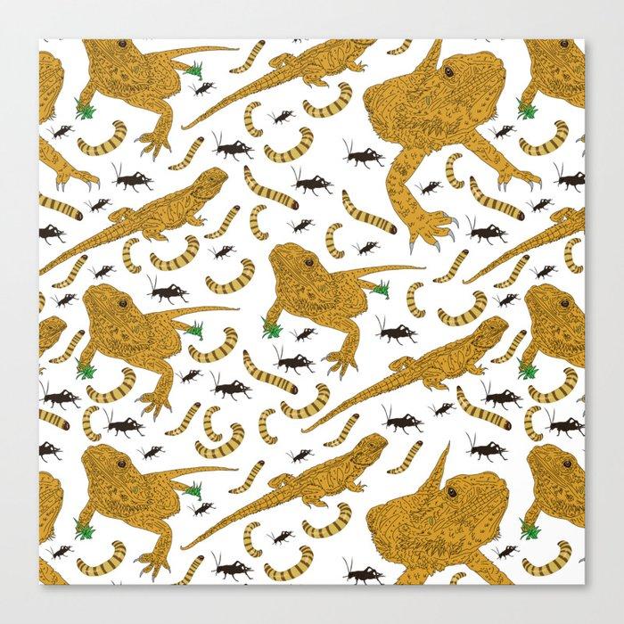 Large Bearded Dragon pattern Leinwanddruck