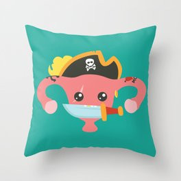 Avast, me hurties Throw Pillow