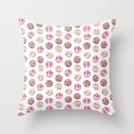 Cookie pattern Throw Pillow