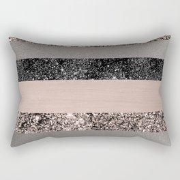 Blush Glitter Glam Stripes #1 #shiny #decor #art #society6 Rectangular Pillow