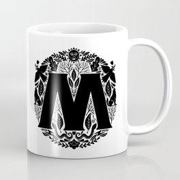 Letter M monogram wildwood Coffee Mug