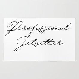 professional jetsetter Rug