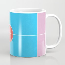 Basketball Court Pastel Colors  Coffee Mug