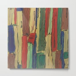 Abstract Art Painting Old Boards by Jeanette Reynolds Cullum Metal Print