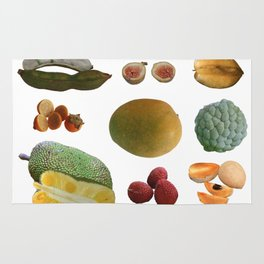 Exotic Fruit Collage Rug