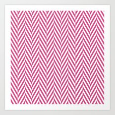 Pink Herringbone Art Print