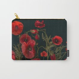 poppies on black Carry-All Pouch