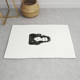 Katie McGrath - Morgana Pendragon Black and White Rug