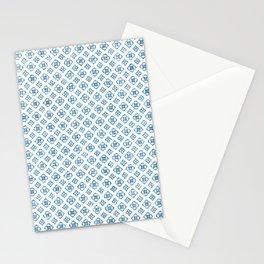 Boho Pattern Pale Petrol Blue Stationery Cards