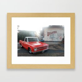 68 chevy truck fully restored Framed Art Print