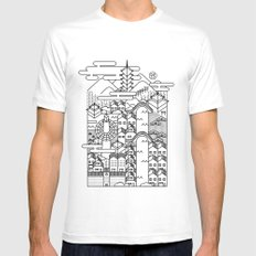 KYOTO White Mens Fitted Tee MEDIUM