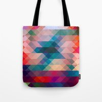 triangle Tote Bags featuring TRIANGLE by Hands in the Sky