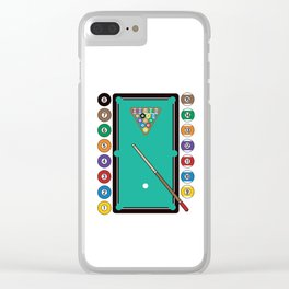Billiards Table and Equipment Clear iPhone Case