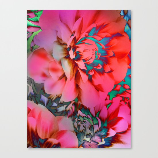 Proud Dahlias 2 Canvas Print