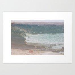 Playa de los Ojos Art Print
