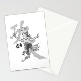KungFu Zodiac - Rooster Stationery Cards