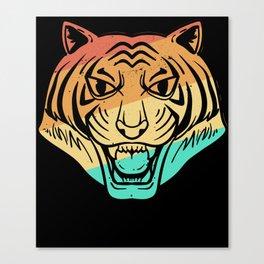 Tiger Big Cat Leopard Retro Canvas Print