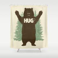 hug Shower Curtains featuring Bear Hug? by Fanboy30