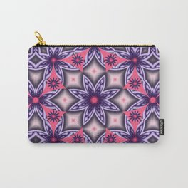 Flowers and Diamonds in purple and Pink Carry-All Pouch