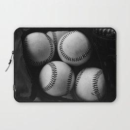 Black and White Pile of Baseballs Laptop Sleeve