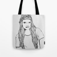 cara Tote Bags featuring Cara. by Jessicapaige