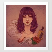 tequila Art Prints featuring Tequila by Tae V