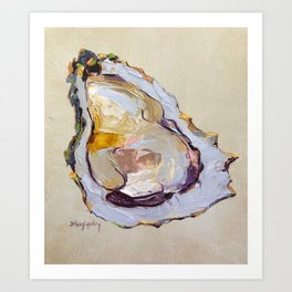 Oyster on a half shell Art Print