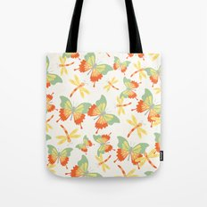 Butterflies and Dragonflies Tote Bag
