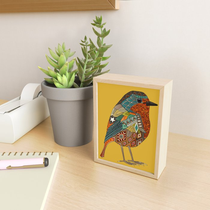 robin gold Framed Mini Art Print