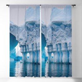 Frost Castle Glacier Enterence, Antarctic color photograph - photography Blackout Curtain