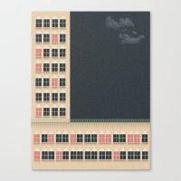building Canvas Prints featuring Building by Felipe Chavez