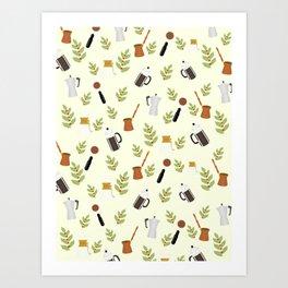 brewing pattern Art Print