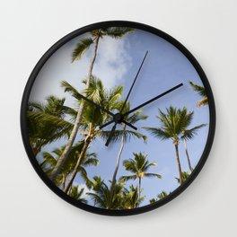 Palmy Blue. Wall Clock
