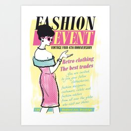 Fashion Event Art Print