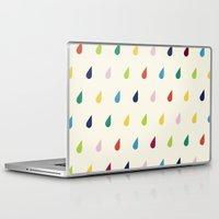 xbox Laptop & iPad Skins featuring Raindrops by Cute Cute Cute