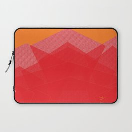 Colorful Red Abstract Mountain Laptop Sleeve