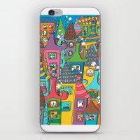 the neighbourhood iPhone & iPod Skins featuring Neighbourhood by Raquel Benmergui