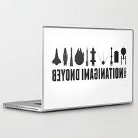 battlestar galactica Laptop & iPad Skins featuring Beyond imagination: Battlestar Galactica postage stamp  by Chungkong