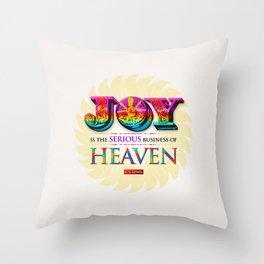 Serious Joy Throw Pillow