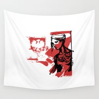 poland Wall Tapestries featuring Poland by viva la revolucion