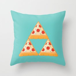 Tri-Pizza Throw Pillow