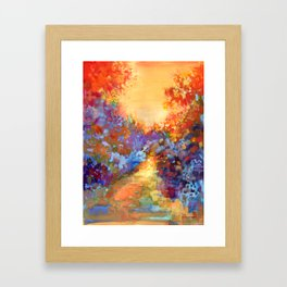 Late Afternoon Autumn Sun Framed Art Print
