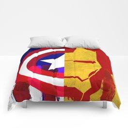 Civil War: Cap V Ironman Abstract Paint Comforters