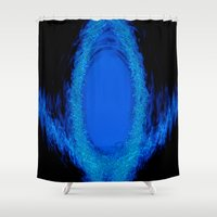 portal Shower Curtains featuring Portal by MotoNS