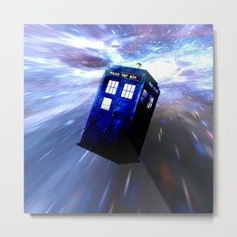 Tardis Doctor Who Metal Print