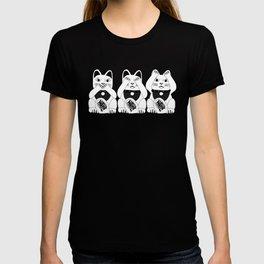 Three Smart Cats T-shirt