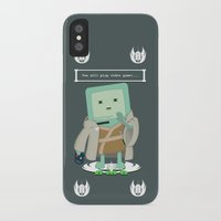 video games iPhone & iPod Cases featuring Jedi Mo: You will play video games... by FuManChou