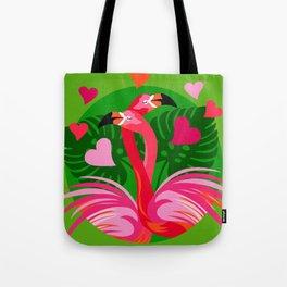 Flamingo Hug Tote Bag