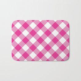 Gingham - Pink Bath Mat